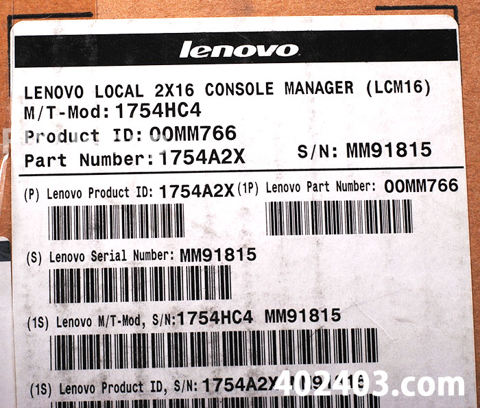 PN:00MM766/1754A2X - Lenovo Local 2x16 Console Manager LCM16